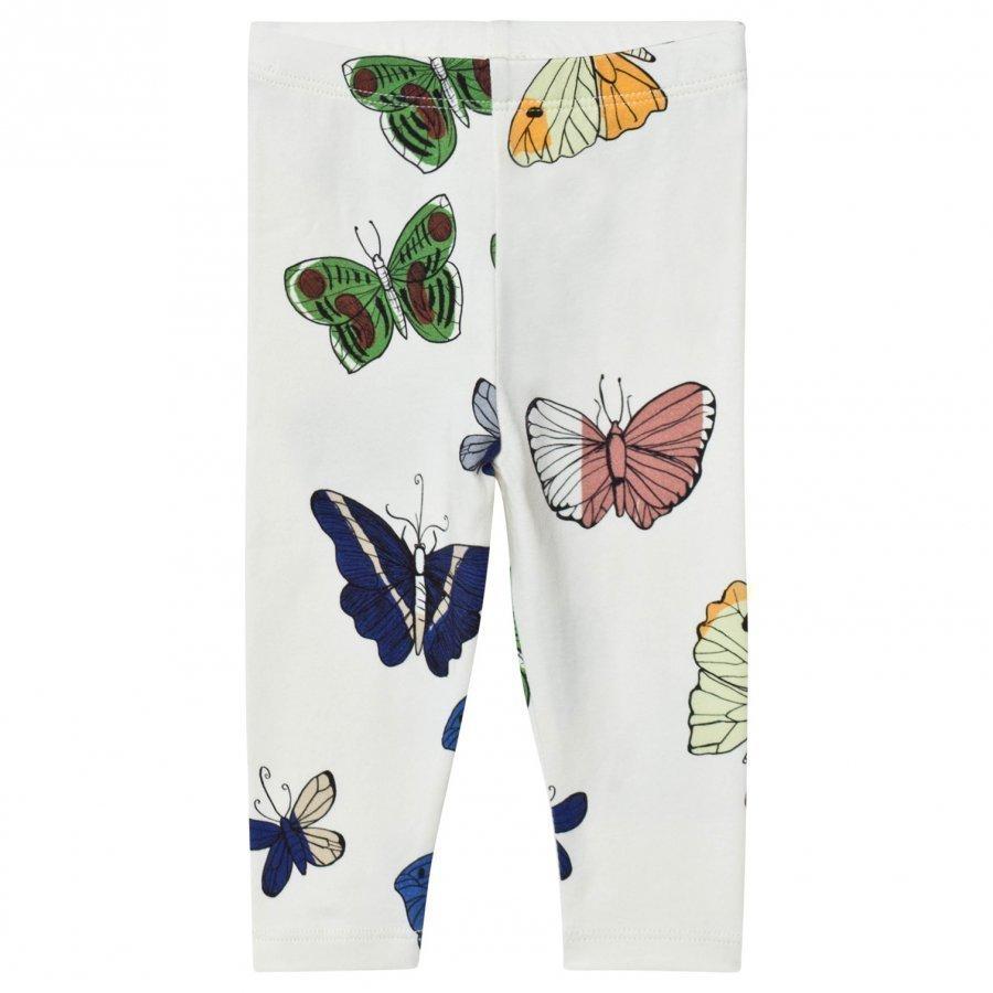 Mini Rodini Butterflies Leggings Off White Legginsit