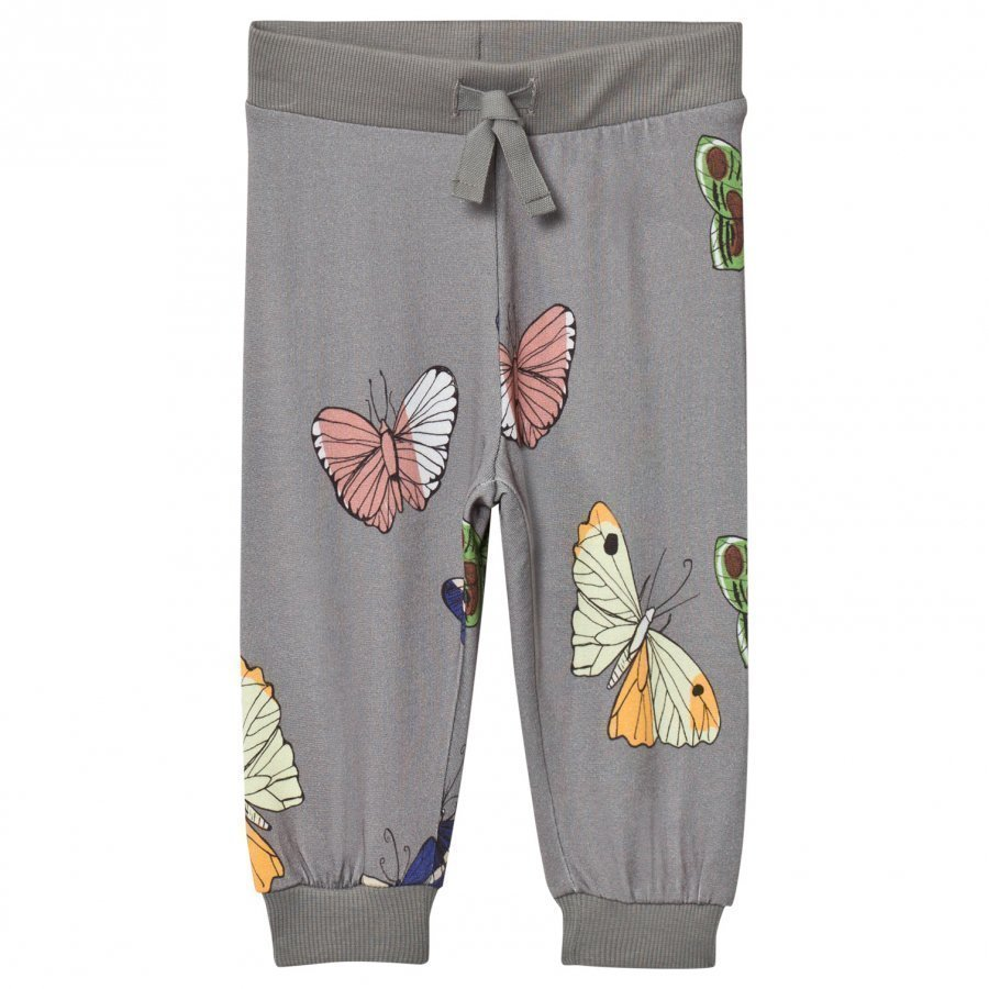 Mini Rodini Butterflies Sweatpants Dark Grey Verryttelyhousut