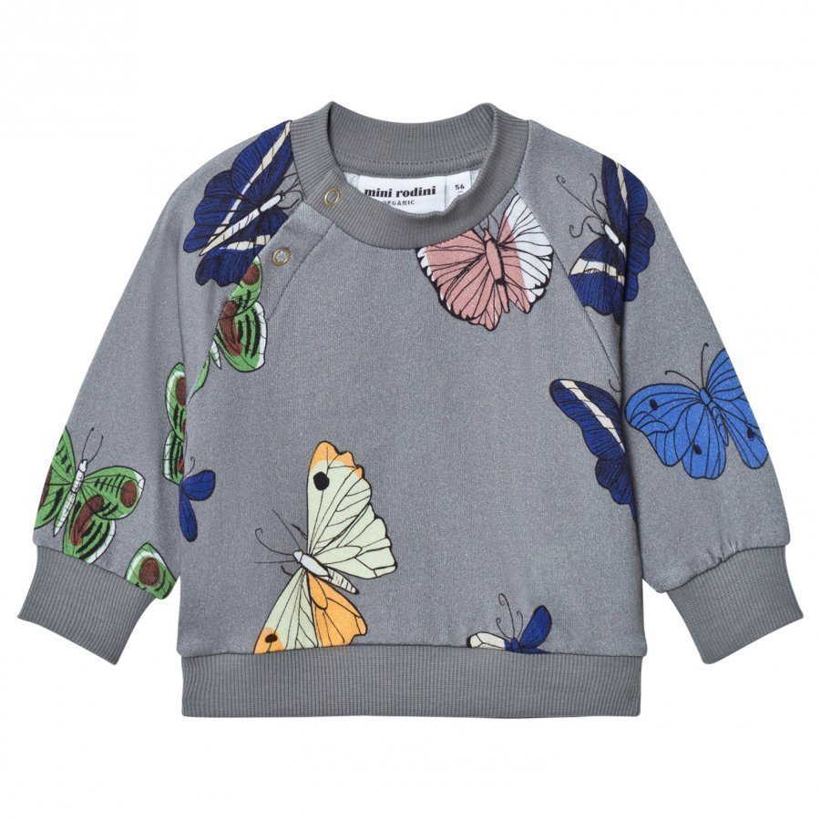 Mini Rodini Butterflies Sweatshirt Dark Grey Oloasun Paita