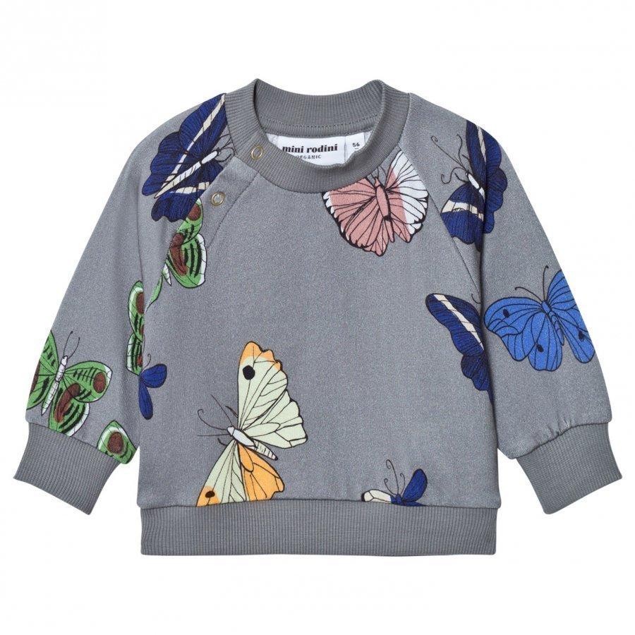 Mini Rodini Butterflies Sweatshirt Dark Grey Oloasun Paita