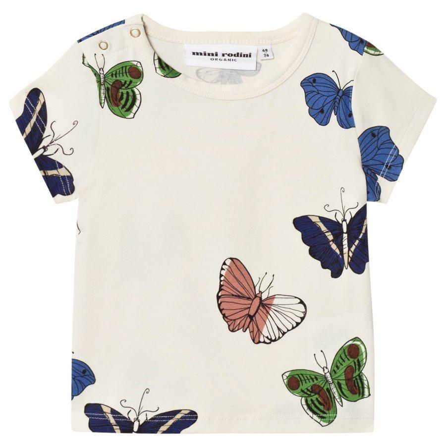 Mini Rodini Butterflies Tee Off White T-Paita