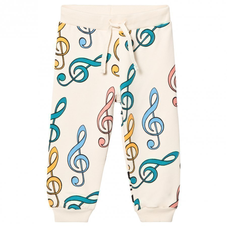 Mini Rodini Clef Sweatpants Off White Verryttelyhousut