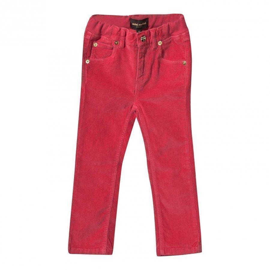 Mini Rodini Corduroy Pants Puppy Fit Pink Housut