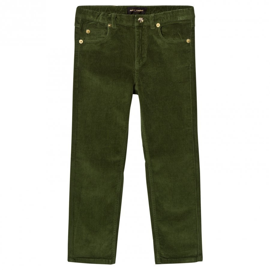 Mini Rodini Corduroy Pants Tiger Fit Dark Green Farkut