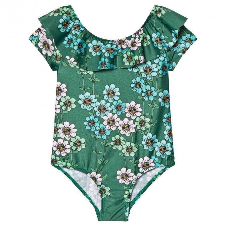 Mini Rodini Daisy Swimsuit Dark Green Uimapuku