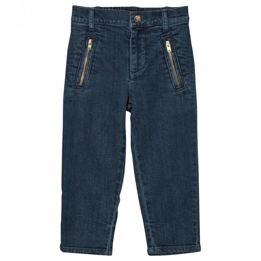 Mini Rodini Denim Zip Trousers Vintage Farkut