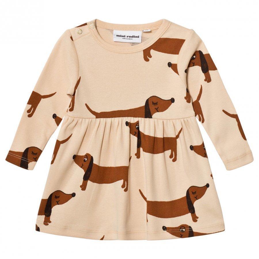 Mini Rodini Dog Dress Beige Mekko