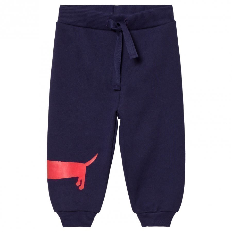 Mini Rodini Dog Sweatpants Navy Verryttelyhousut