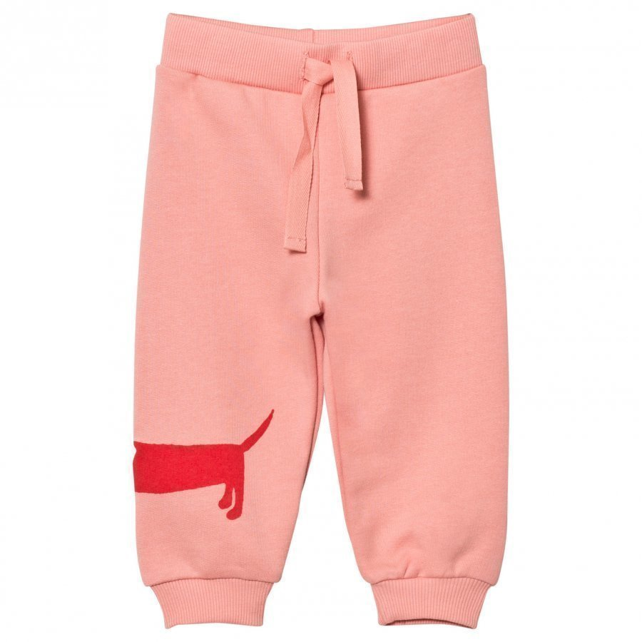 Mini Rodini Dog Sweatpants Pink Verryttelyhousut