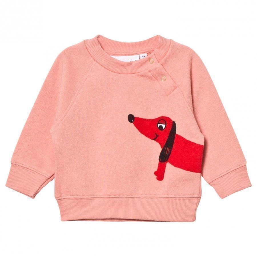 Mini Rodini Dog Sweatshirt Pink Oloasun Paita
