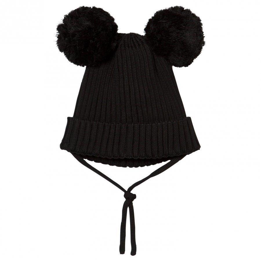 Mini Rodini Ear Hat Black Pipo