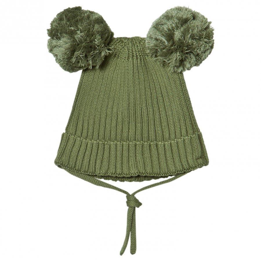 Mini Rodini Ear Hat Green Pipo