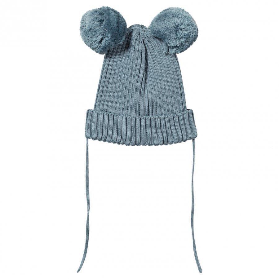 Mini Rodini Ear Hat Light Blue Pipo
