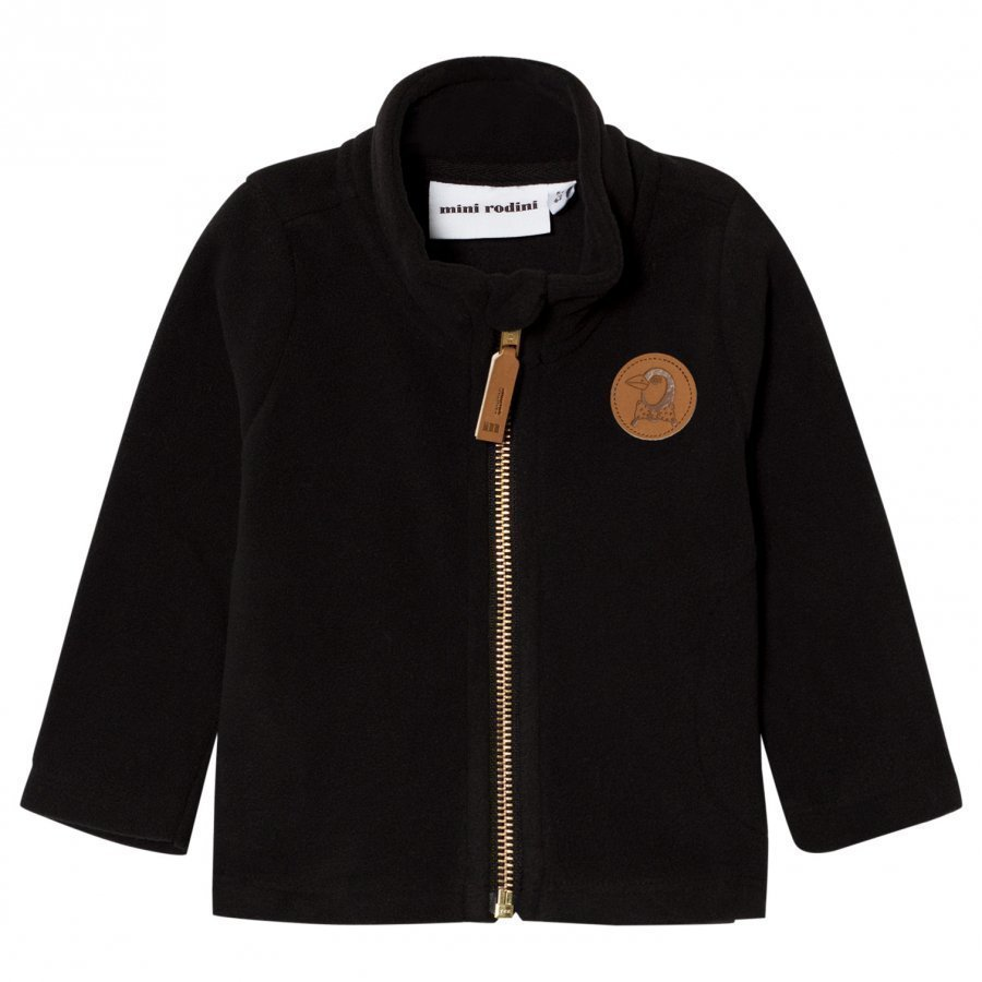 Mini Rodini Fleece Jacket Black Fleece Takki