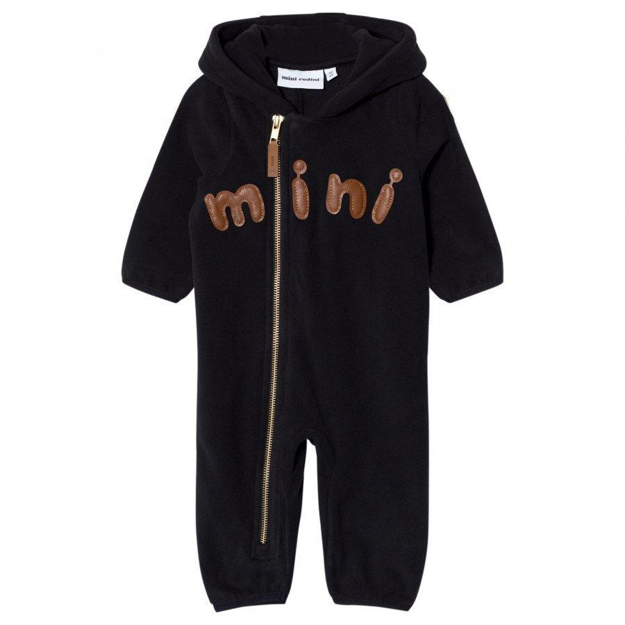 Mini Rodini Fleece Onesie Black Fleece Haalarit