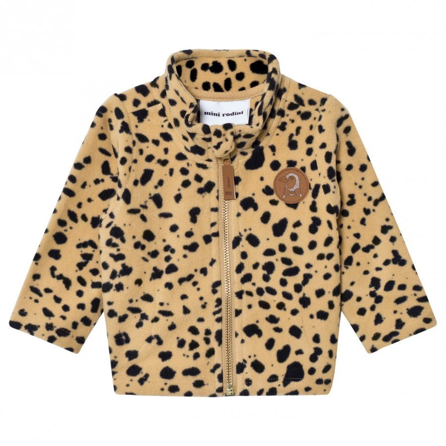 Mini Rodini Fleece Spot Jacket Beige Fleece Takki