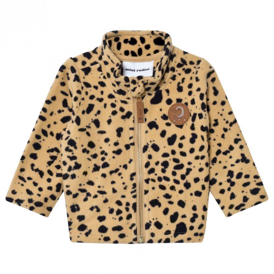 Mini Rodini Fleece Spot Jacket Beige Fleece Takki