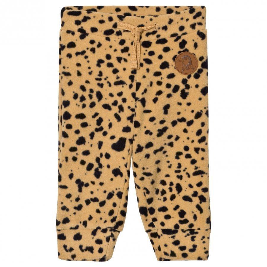 Mini Rodini Fleece Spot Trousers Beige Fleece Housut
