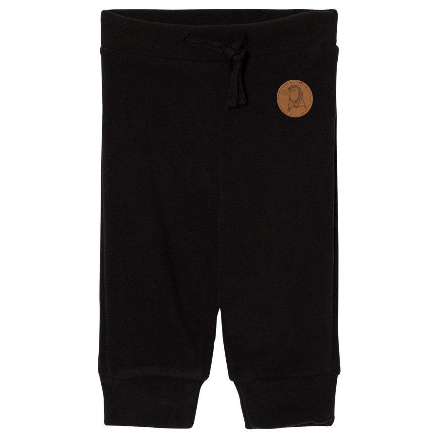 Mini Rodini Fleece Trousers Black Fleece Housut