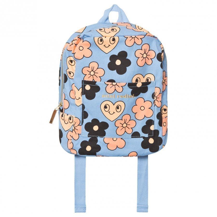 Mini Rodini Flowers Backpack Light Blue Reppu
