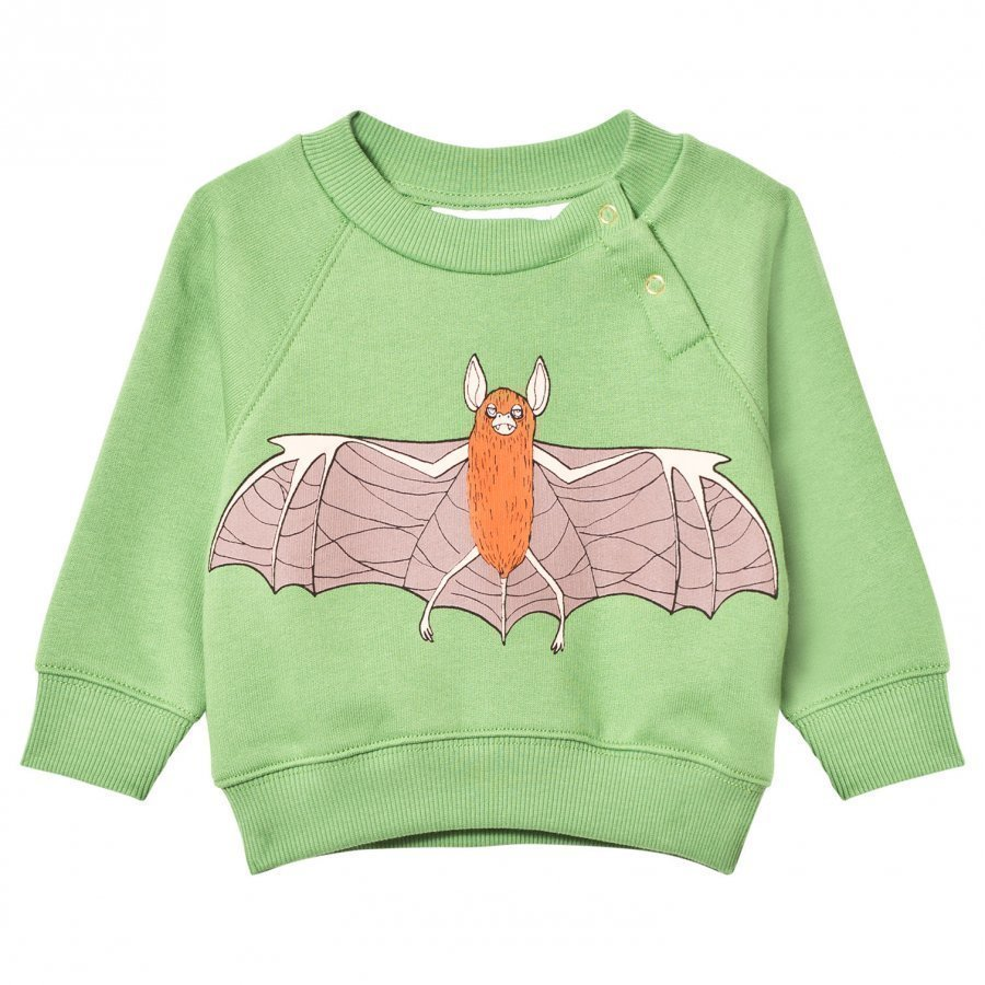 Mini Rodini Flying Bat Sweatshirt Green Oloasun Paita
