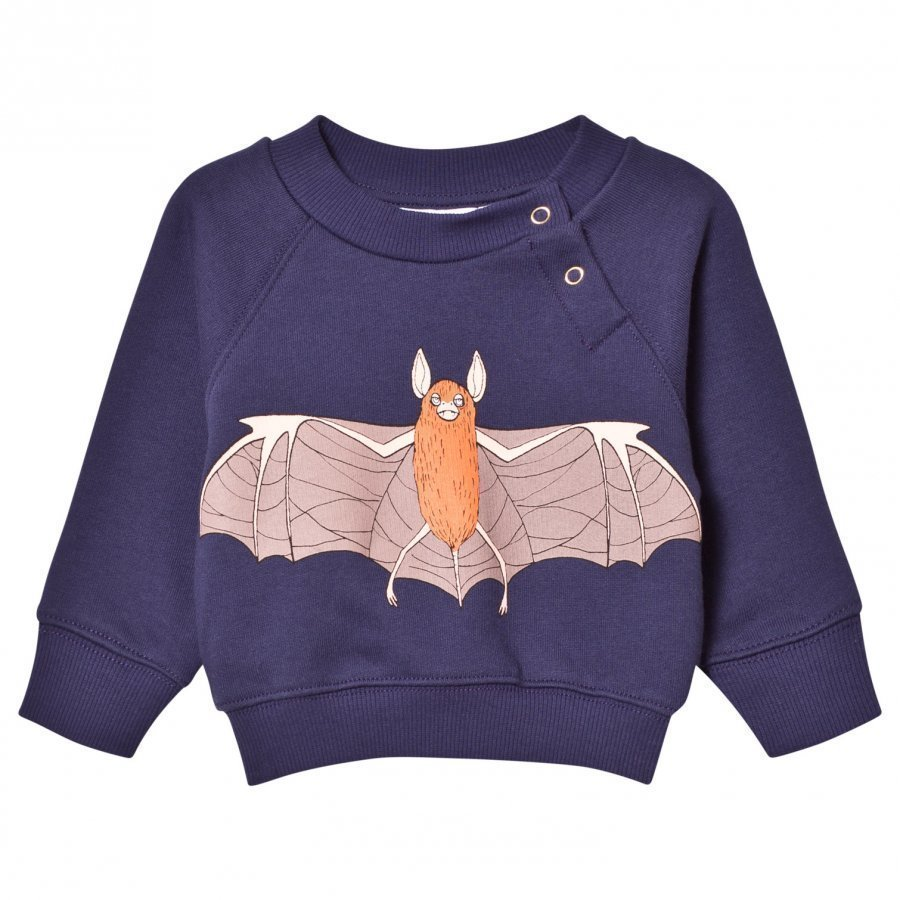 Mini Rodini Flying Bat Sweatshirt Navy Oloasun Paita