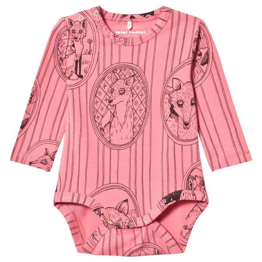 Mini Rodini Fox Family Baby Body Pink Body