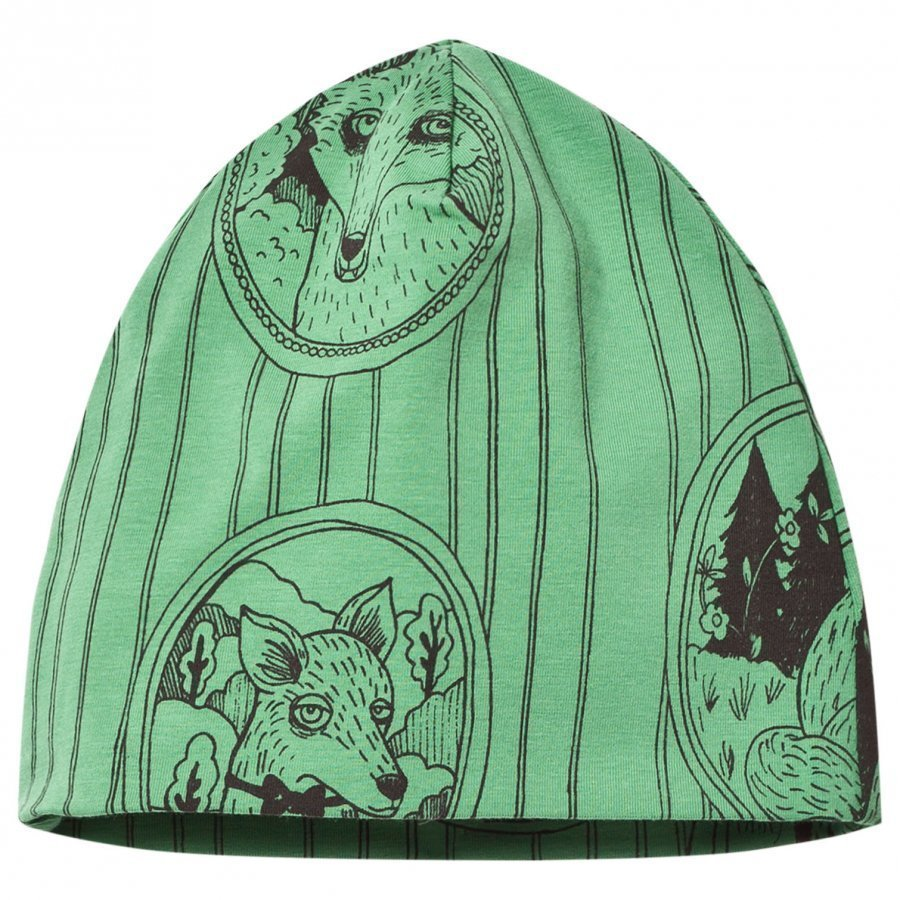 Mini Rodini Fox Family Beanie Green Pipo