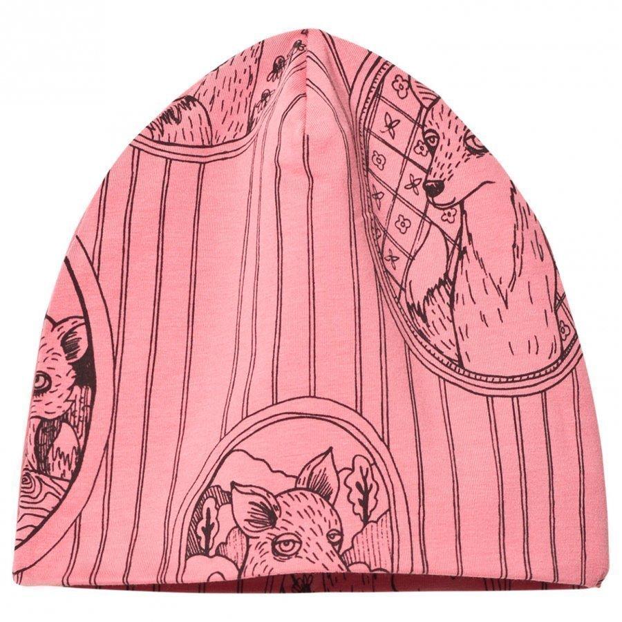 Mini Rodini Fox Family Beanie Pink Pipo