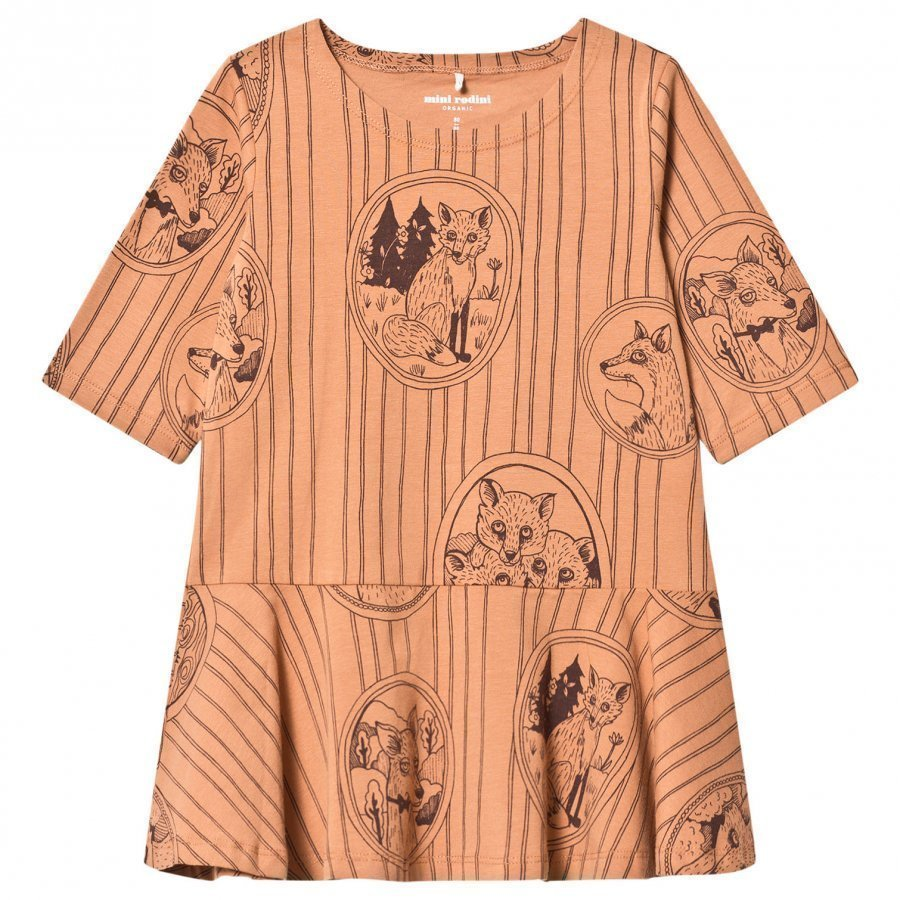 Mini Rodini Fox Family Dress Brown Mekko