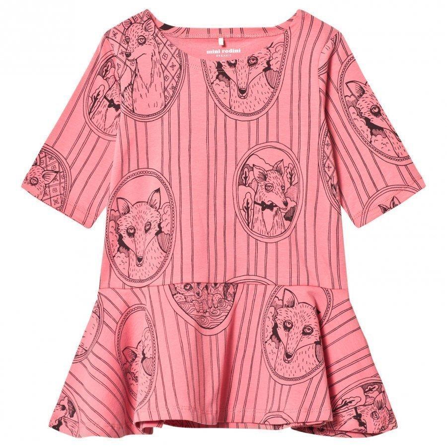 Mini Rodini Fox Family Dress Pink Mekko
