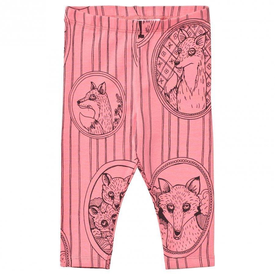 Mini Rodini Fox Family Leggings Pink Legginsit