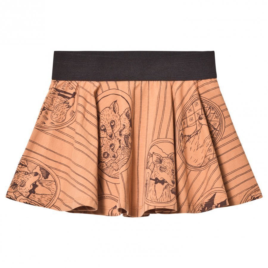 Mini Rodini Fox Family Skirt Brown Midihame