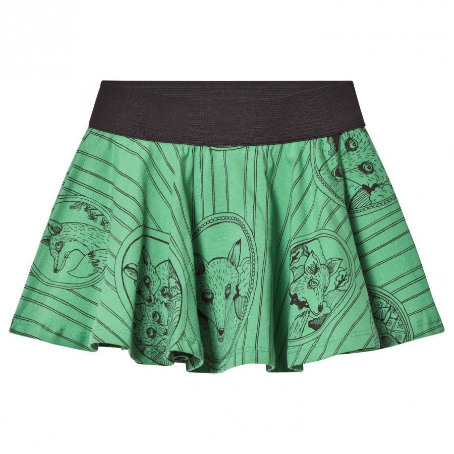 Mini Rodini Fox Family Skirt Green Midihame