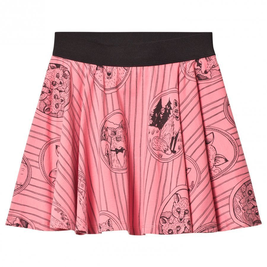 Mini Rodini Fox Family Skirt Pink Midihame