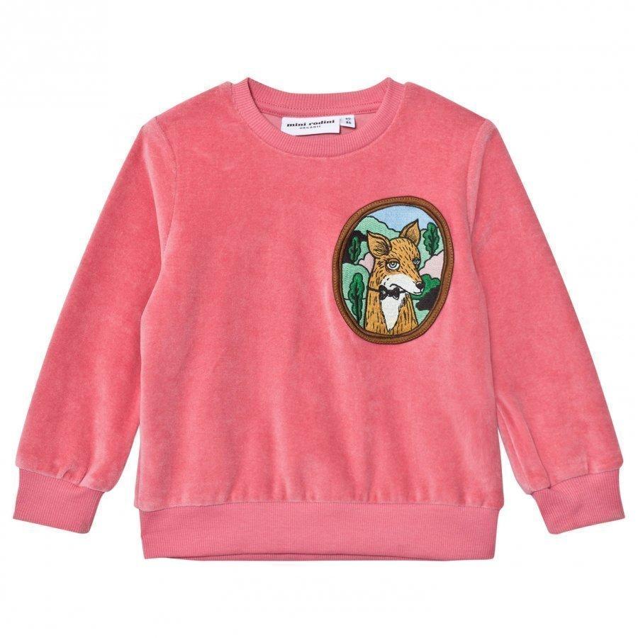 Mini Rodini Fox Velour Sweatshirt Pink Oloasun Paita