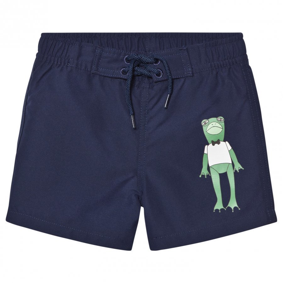 Mini Rodini Frog Swimshorts Navy Uimahousut