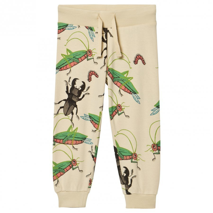 Mini Rodini Insects Sweatpants Beige Verryttelyhousut