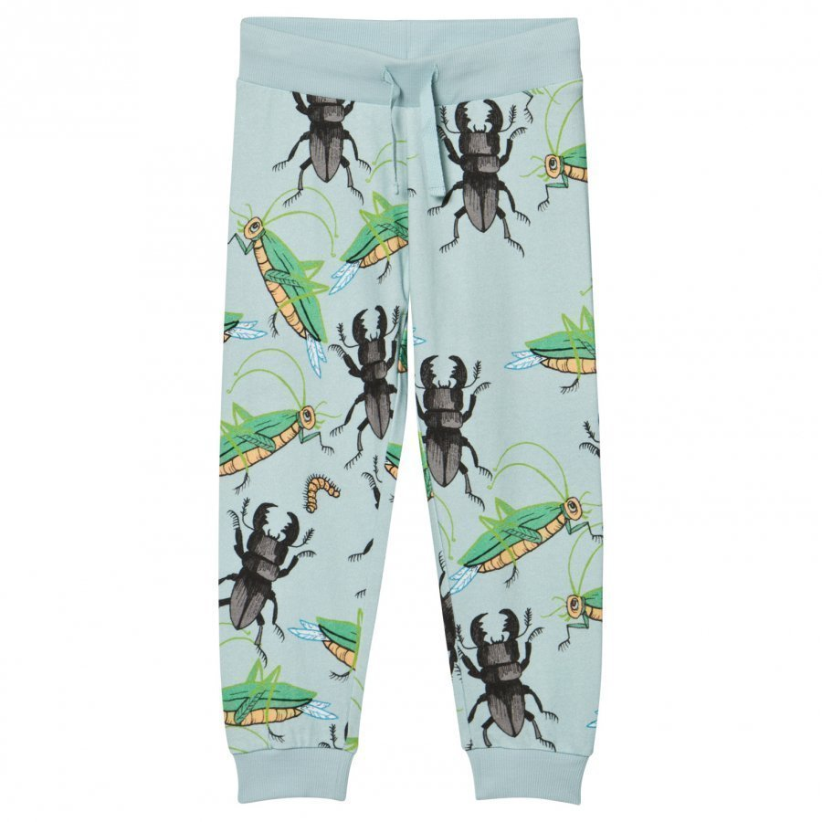 Mini Rodini Insects Sweatpants Light Blue Verryttelyhousut