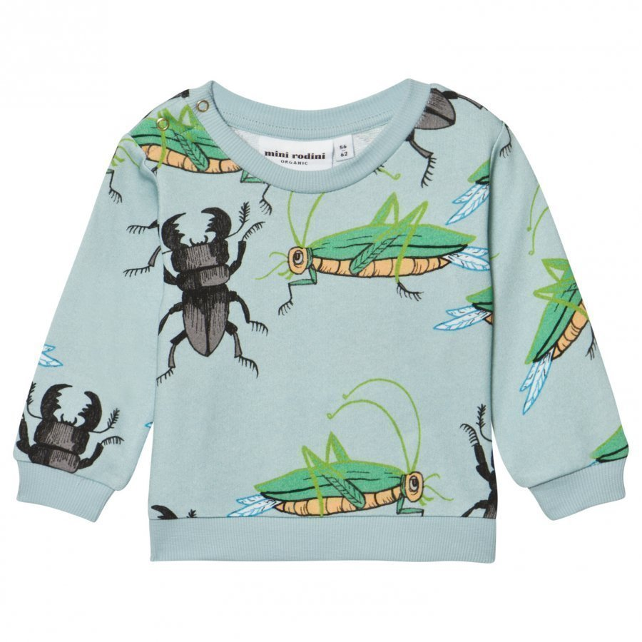 Mini Rodini Insects Sweatshirt Light Blue Oloasun Paita