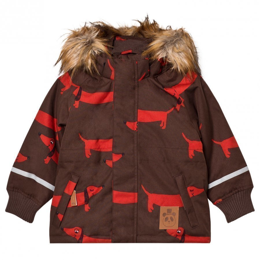 Mini Rodini K2 Dog Parka Brown Parkatakki