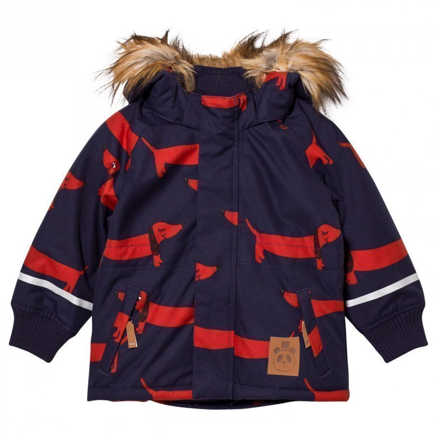 Mini Rodini K2 Dog Parka Navy Parkatakki