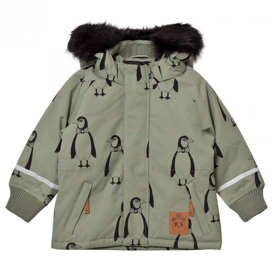 Mini Rodini K2 Penguin Parka Green Parkatakki