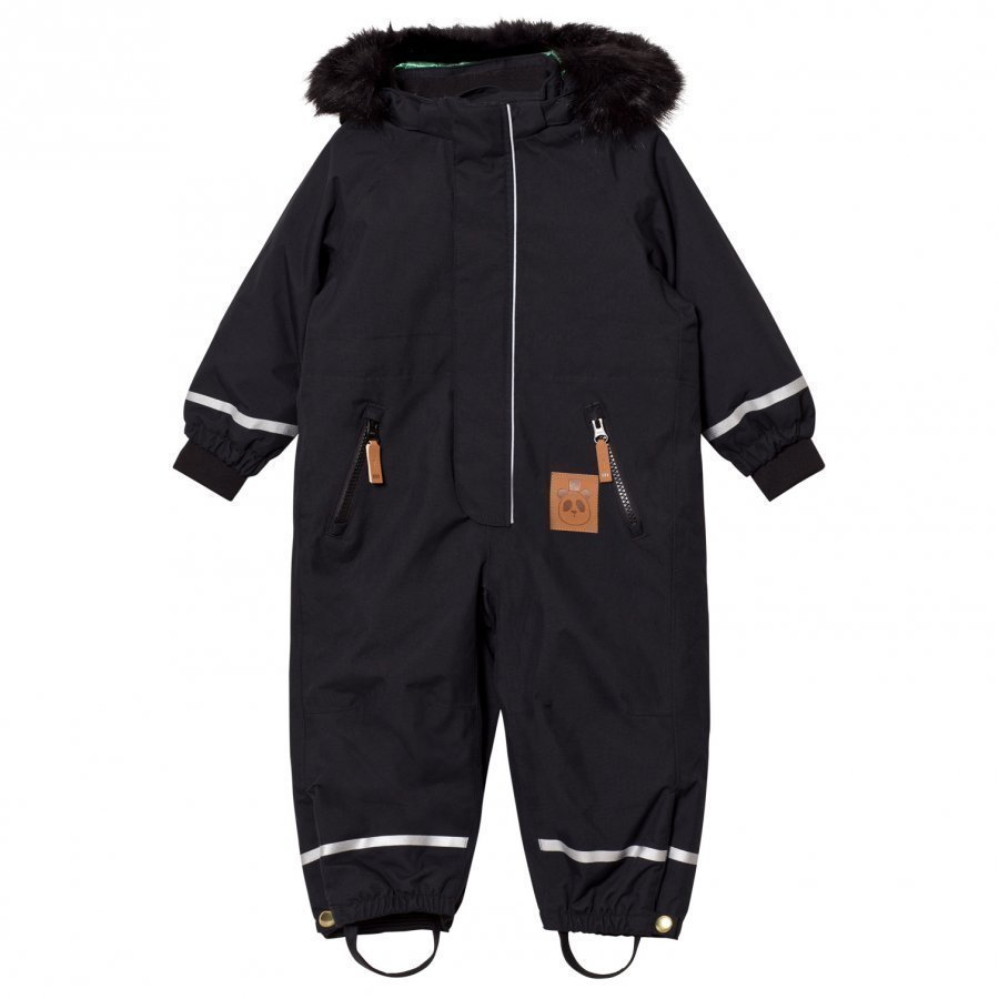 Mini Rodini Kebnekaise Fox Family Snowsuit Black Toppahaalari