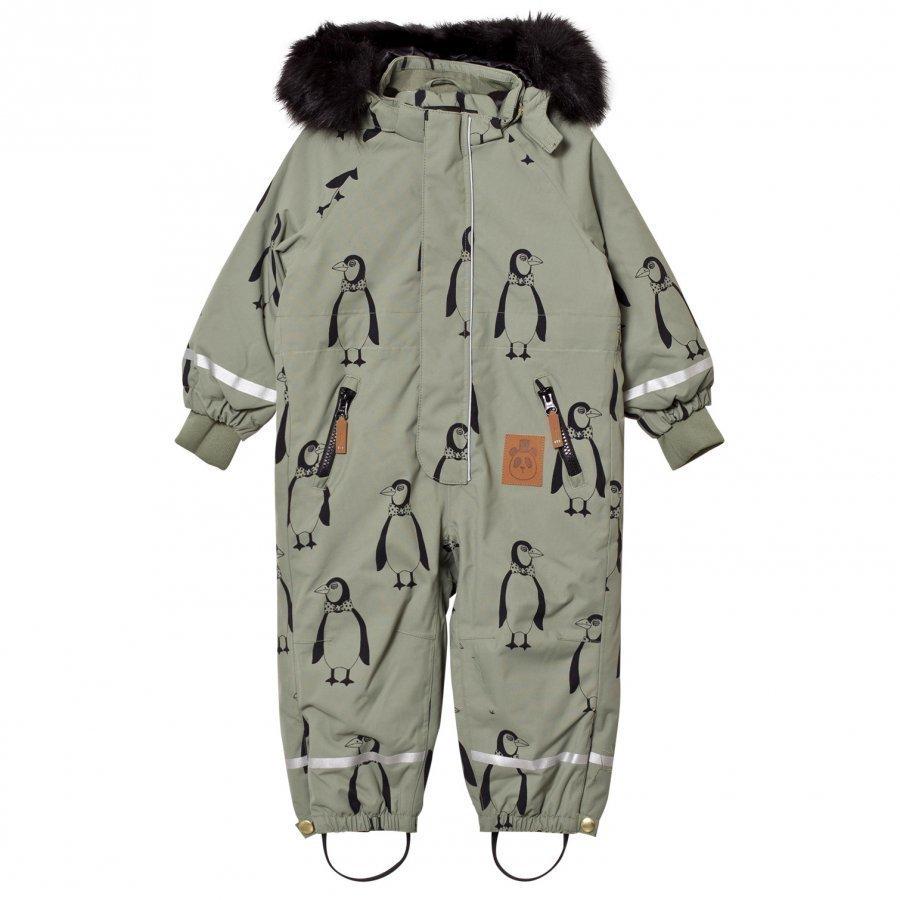 Mini Rodini Kebnekaise Penguin Snowsuit Green Toppahaalari