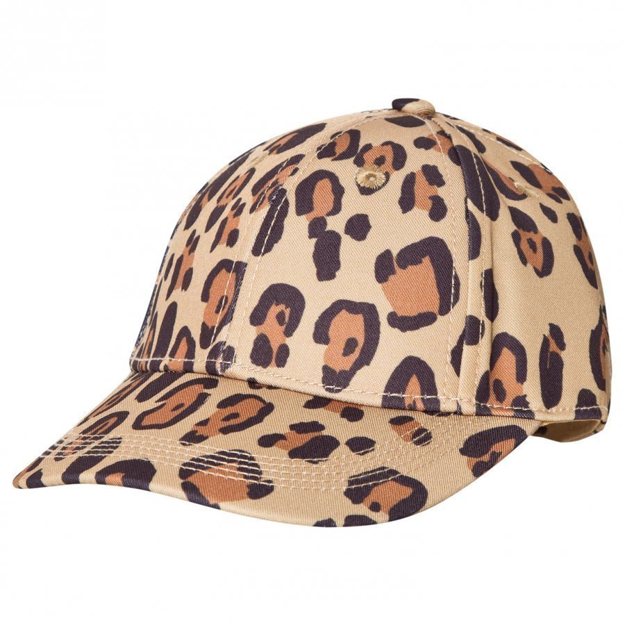 Mini Rodini Leopard Cap Beige Lippis