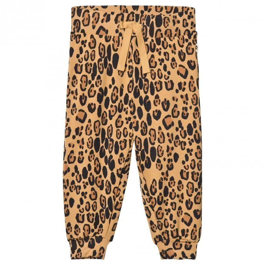 Mini Rodini Leopard Sweatpants Beige Verryttelyhousut