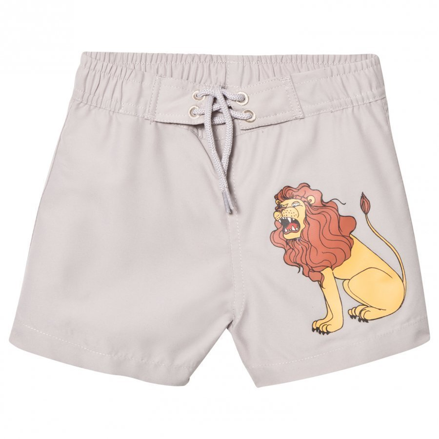 Mini Rodini Lion Swimshorts Light Grey Uimahousut