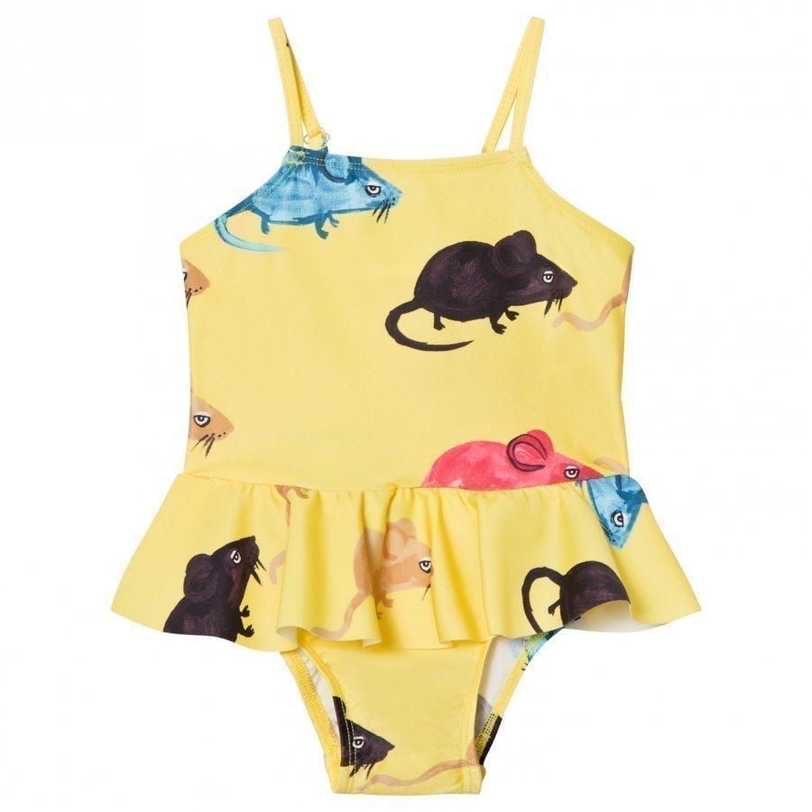 Mini Rodini Mr Mouse Skirt Swimsuit Yellow Uimapuku