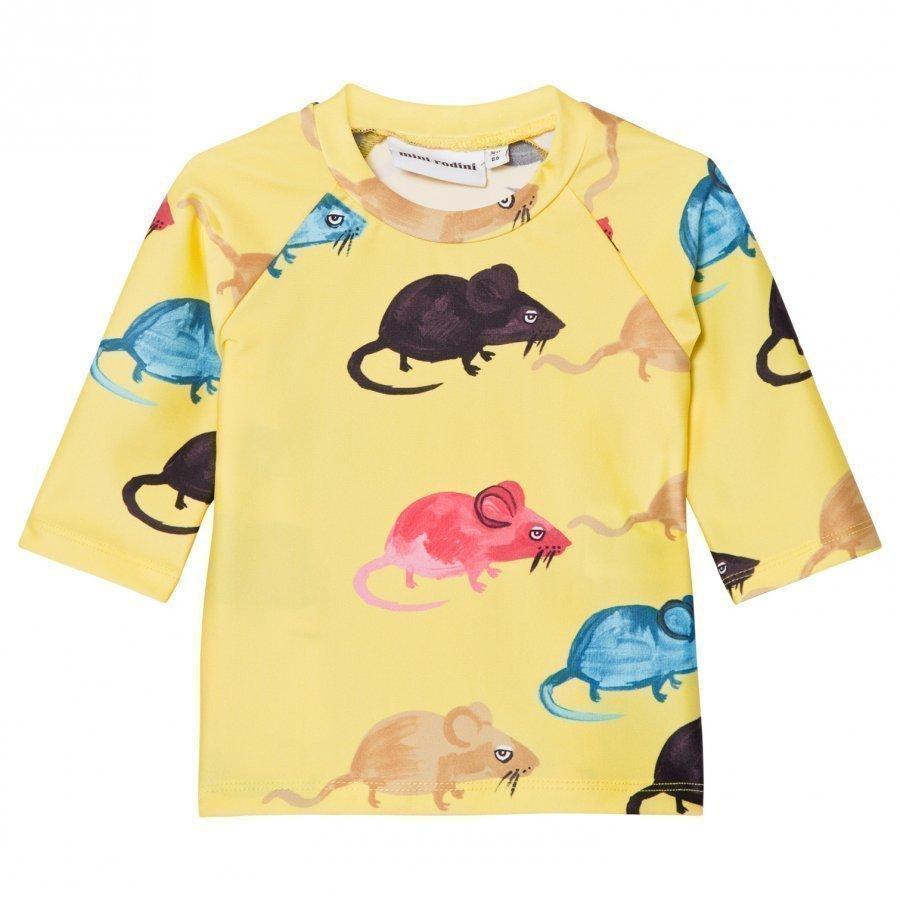 Mini Rodini Mr Mouse Uv Top Yellow Uv-Paita